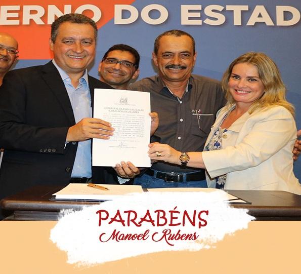 Parabéns Prefeito Manoel Rubens