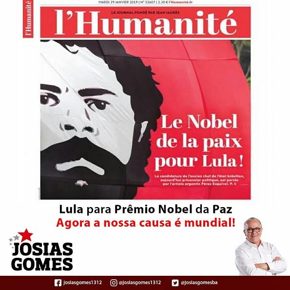 L'Humanité: Lula Nobel Da Paz