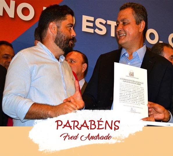Parabéns Prefeito Fred Andrade