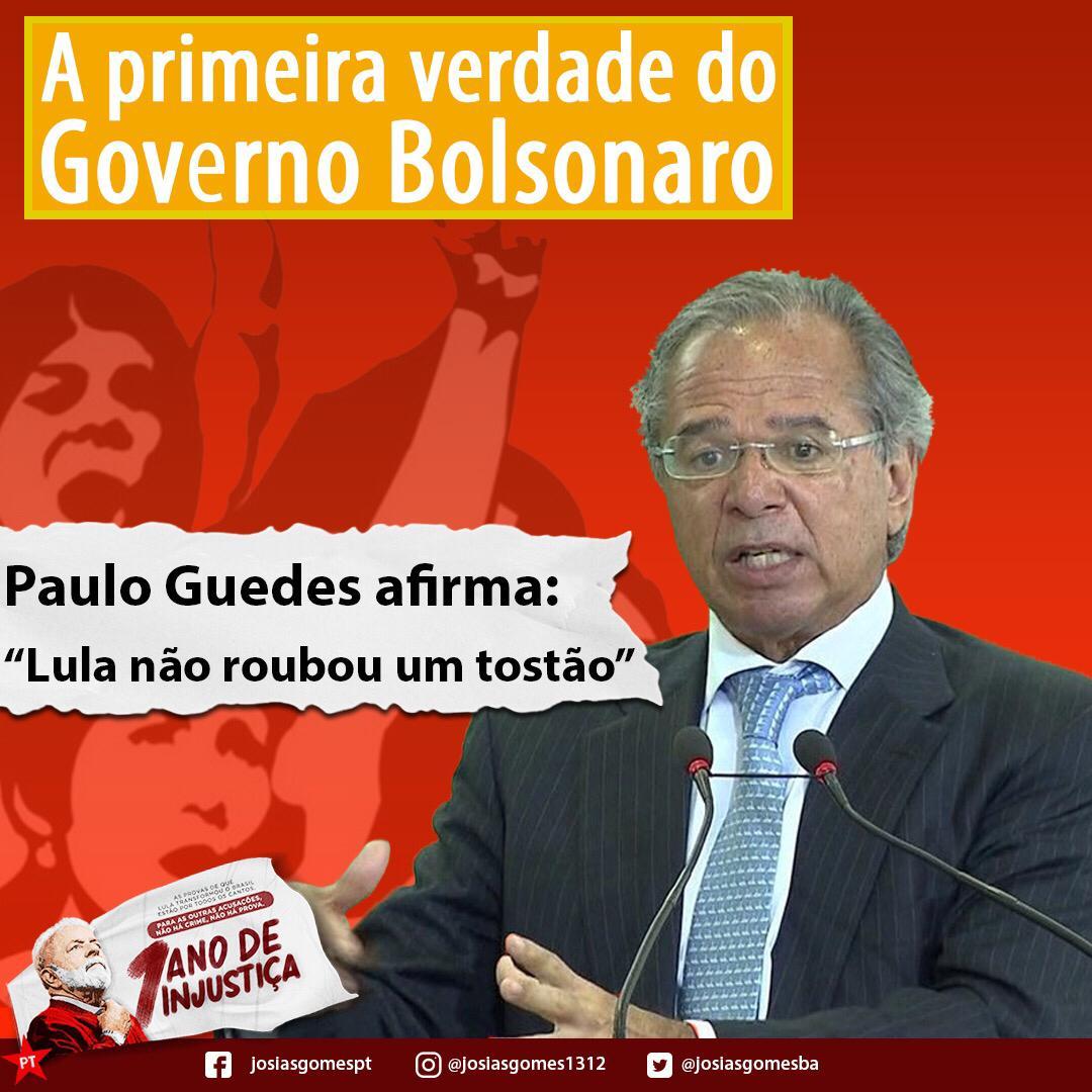 Paulo Guedes Defende A Inocência De Lula