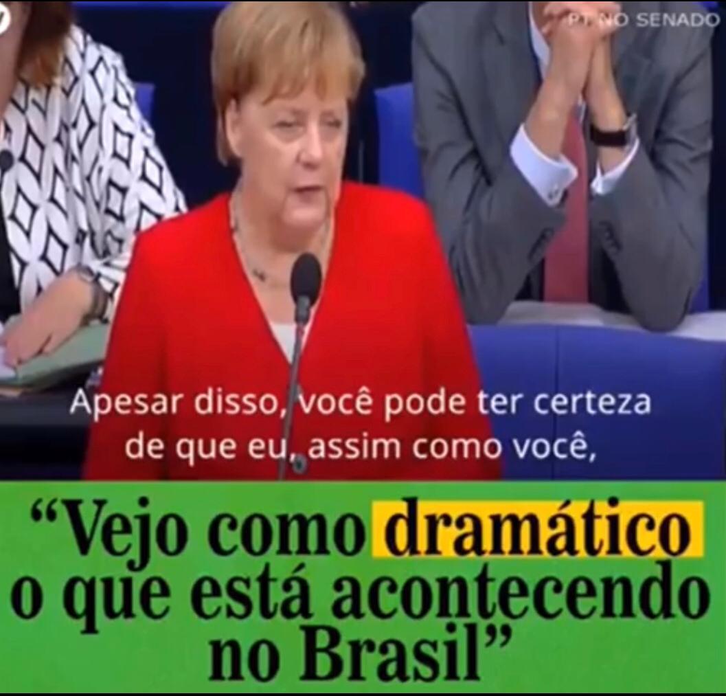 Chanceler Alemã Preocupada Com Os Rumos Do Brasil!