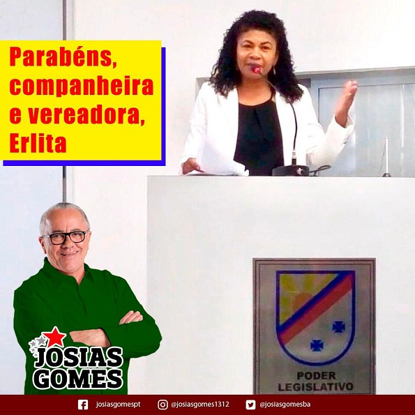 Parabéns Vereadora Erlita!