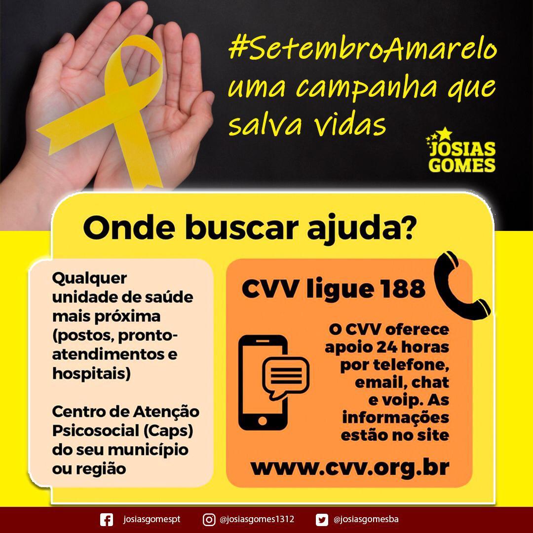 Campanha Setembro Amarelo!