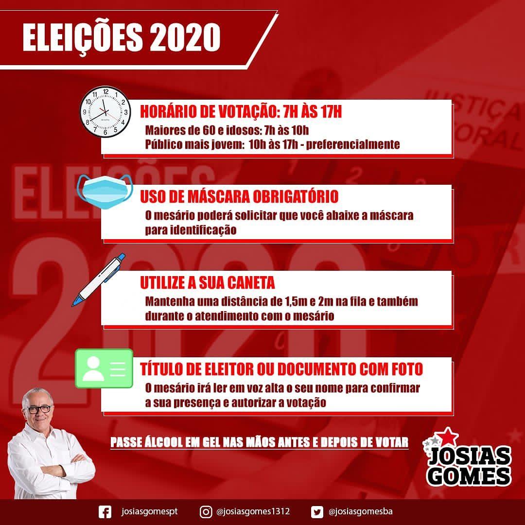 Eleições 2020: Atentem-se Para As Informações