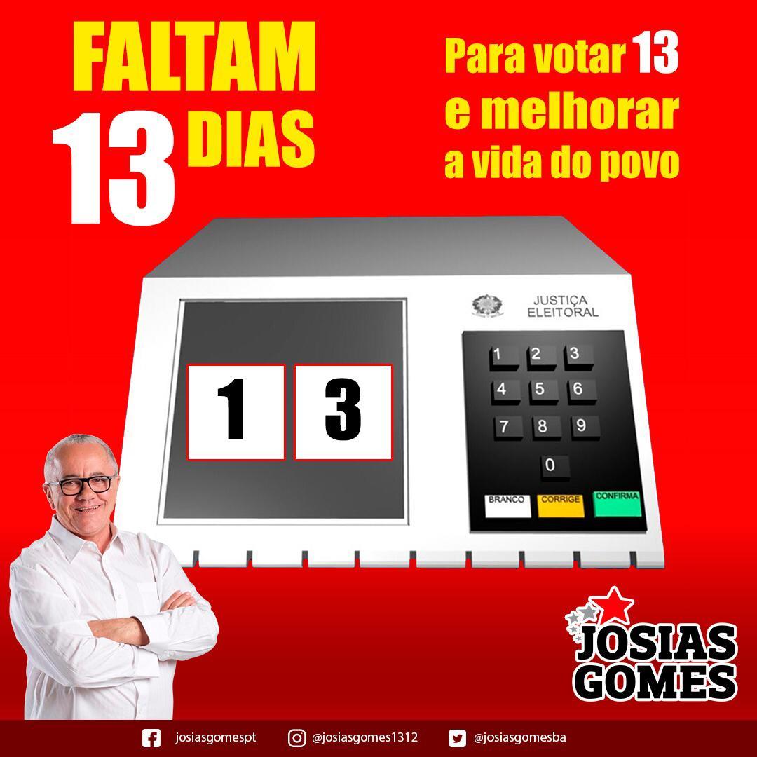 Faltam 13 Dias Para Votarmos 13!