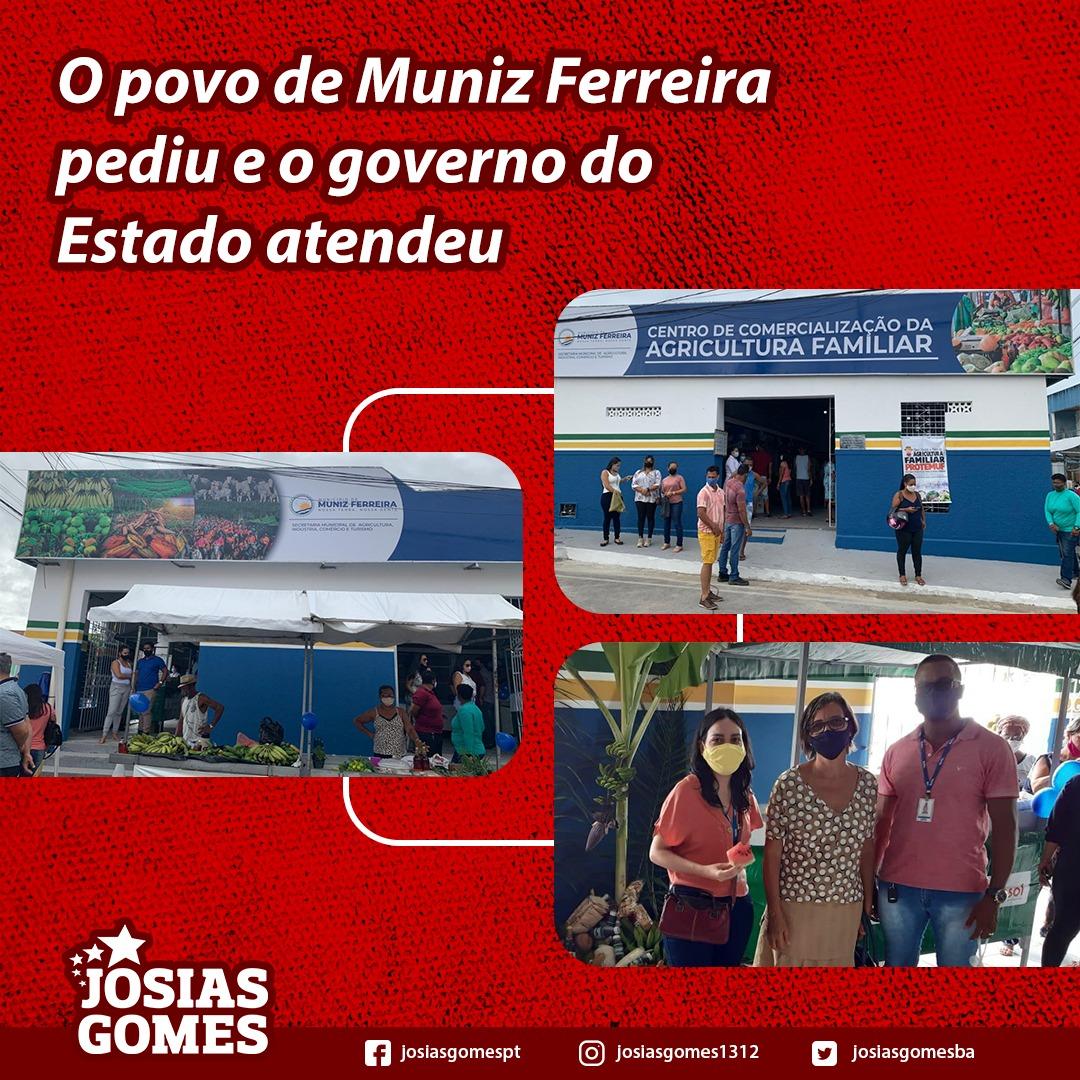 Inaugurado O Centro De Comercialização Da Agricultura Familiar De Muniz Ferreira!